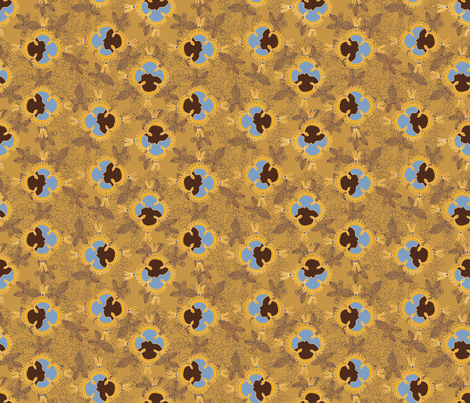 African Visage Autumn Sands Small fabric by bloomingwyldeiris on Spoonflower - custom fabric