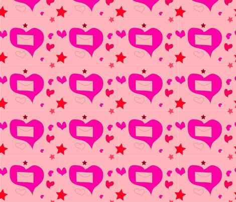 Love_Letter_pattern fabric by lrudd on Spoonflower - custom fabric