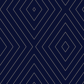 Pin Stripe Chevron- Blue-black