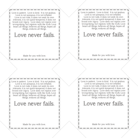 Love Labels fabric by patchinista on Spoonflower - custom fabric