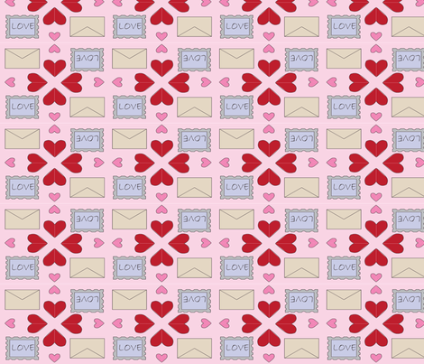 Letters of Love fabric by rebeccabenson on Spoonflower - custom fabric