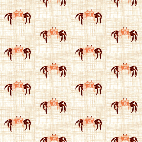 Tiny Crabs - linen fabric by thecalvarium on Spoonflower - custom fabric