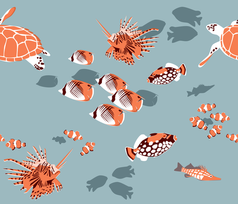 Retro Reef fabric by thecalvarium on Spoonflower - custom fabric