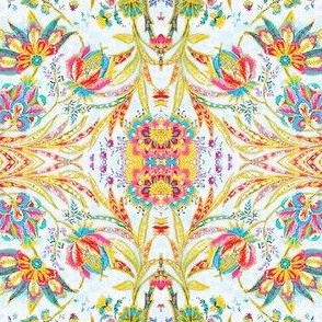Jacobean Floral Bright By Susi Franco