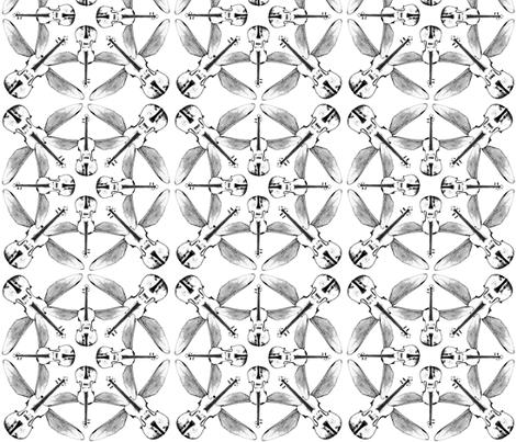 violin quartet fabric by lyric_art on Spoonflower - custom fabric