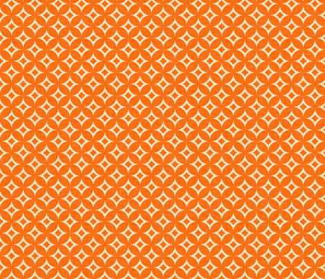 diamond_circles_orange_small fabric by holli_zollinger on Spoonflower - custom fabric