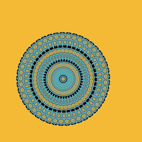 Blue and Gold Mandala