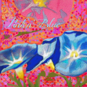 Morning Glories in Pink and Blue-Floral Collection by Susi Franco