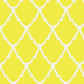 Teardrop Trellis Citron and White