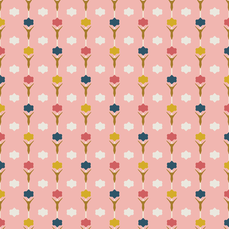 Tulip Pink fabric by kathyjuriss on Spoonflower - custom fabric