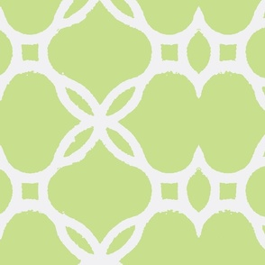 Ironwork Lattice Celery and White