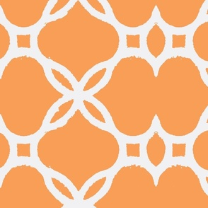 Ironwork Lattice Orange and White