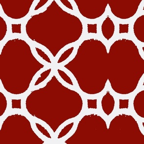 Ironwork Lattice Red and White