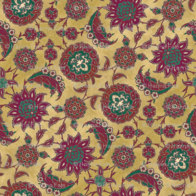 Antique Arabic floral