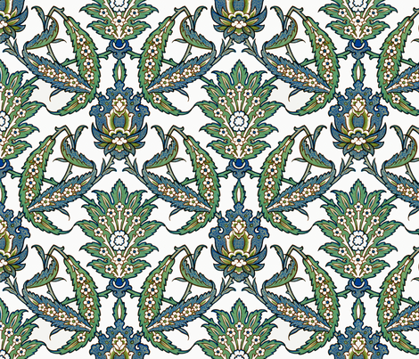 Persian pattern, restored colors fabric by unseen_gallery_fabrics on Spoonflower - custom fabric