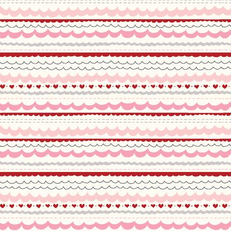 funny_bunny_love_scallop1 fabric by stacyiesthsu on Spoonflower - custom fabric