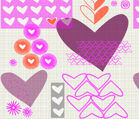 construction paper valentine fabric by fable_design on Spoonflower - custom fabric