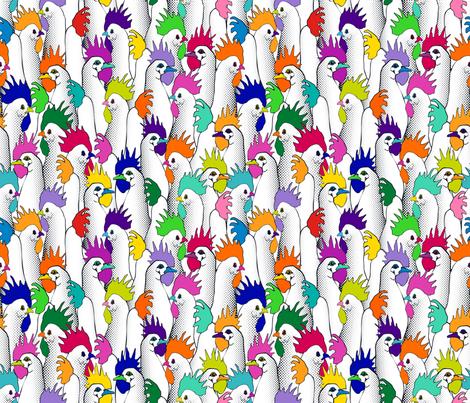 Chicken POPs - Half fabric by juliesfabrics on Spoonflower - custom fabric