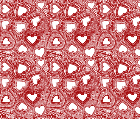 valentines lace fabric by jeannemcgee on Spoonflower - custom fabric