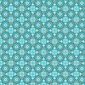 Moroccan garden blue