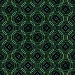 Celtic Rings Green Blue Masculine