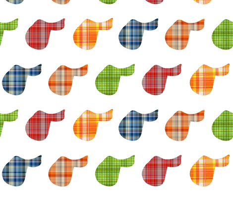 Plaid Saddles fabric by ragan on Spoonflower - custom fabric