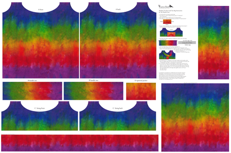 Rainbow Tie Dye Look Tote fabric by theplayfulcrow on Spoonflower - custom fabric