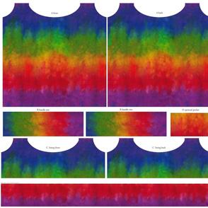 Rainbow Tie Dye Look Tote