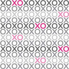 XOXO : grey + pink : big