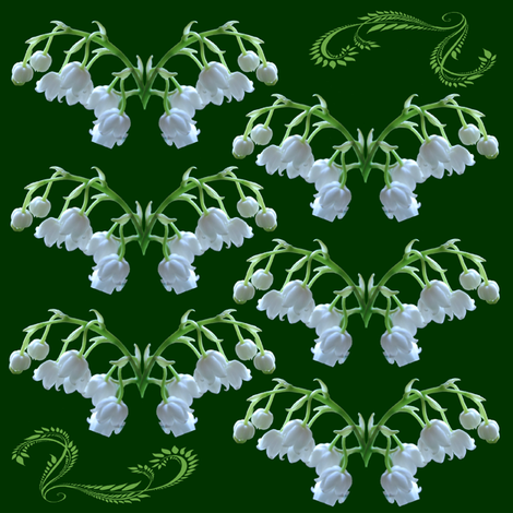 lily of the valley fabric by krs_expressions on Spoonflower - custom fabric