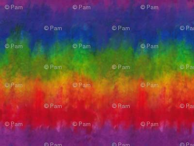 Rainbow Tie Dye Look