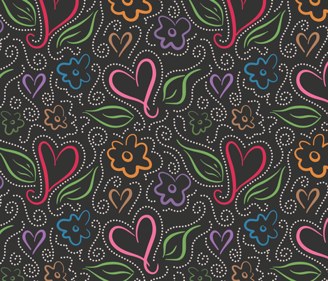 Love's In Bloom fabric by sew-me-a-garden on Spoonflower - custom fabric