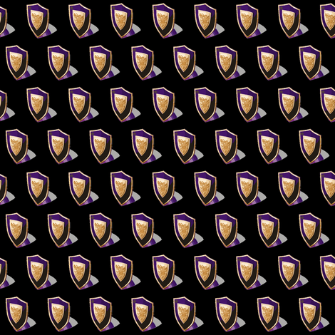Medieval Shield Purple/Black fabric by ravynscache on Spoonflower - custom fabric