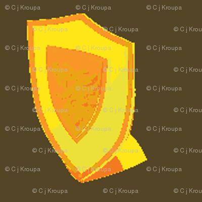Medieval Shield Gold