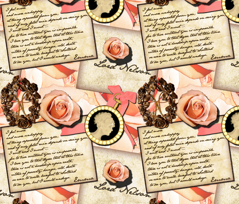 Emma, Lady Hamilton ~ Large Scale fabric by peacoquettedesigns on Spoonflower - custom fabric