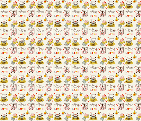 Love Messages fabric by theboutiquestudio on Spoonflower - custom fabric