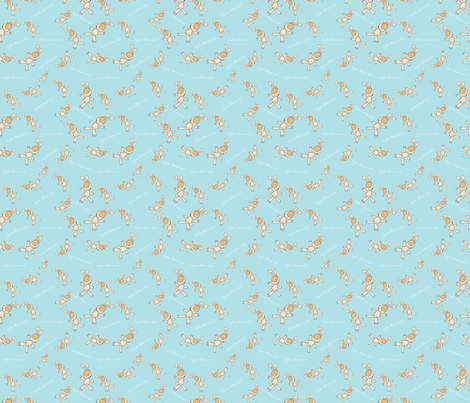 My Little French Rabbit Snuggly fabric by blackwooddesign on Spoonflower - custom fabric