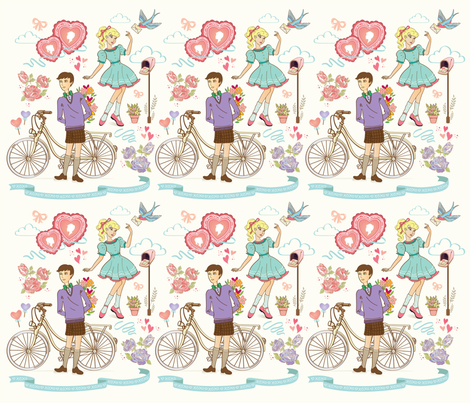 love letter  fabric by anyotosetiadi on Spoonflower - custom fabric