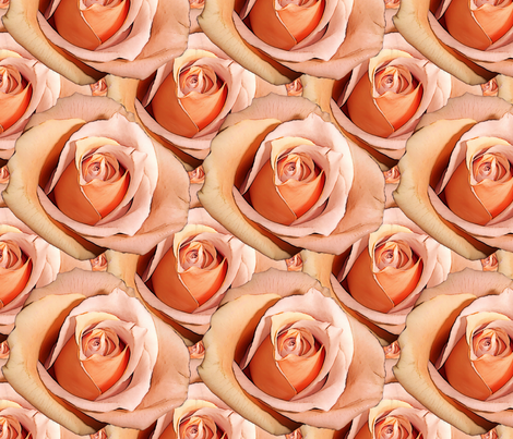Romantic Roses ~Bright ~ Small fabric by peacoquettedesigns on Spoonflower - custom fabric