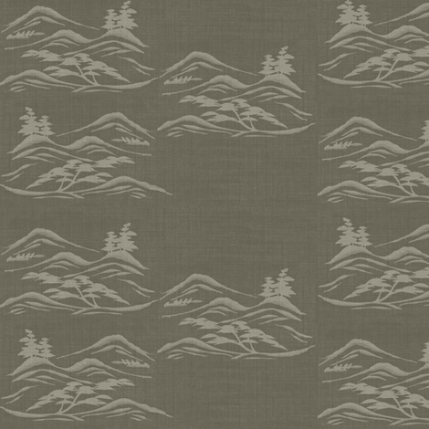 Asian inkscape -  warm grey, taupe fabric by materialsgirl on Spoonflower - custom fabric