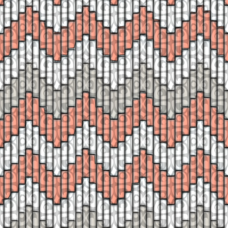 inuit chevron coral 3x fabric by glimmericks on Spoonflower - custom fabric