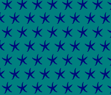 starfish_fabric fabric by adotsondesigns on Spoonflower - custom fabric
