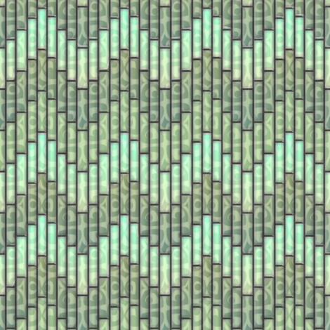 inuit chevron celadon 3x fabric by glimmericks on Spoonflower - custom fabric