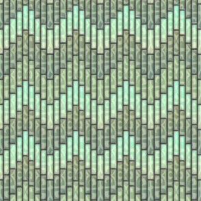 inuit chevron celadon 3x