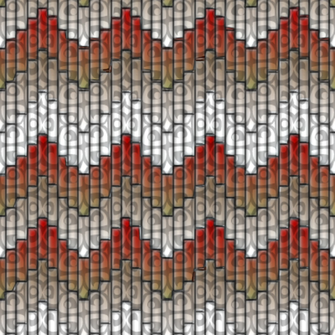 inuit chevron flames 3x fabric by glimmericks on Spoonflower - custom fabric