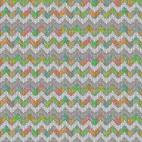 inuit chevron rainbow fabric by glimmericks on Spoonflower - custom fabric