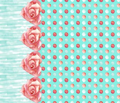 Romantica Red Dots fabric by gemmacreativa on Spoonflower - custom fabric