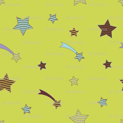 Fabric_PopStars2_green
