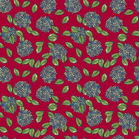 dark red blue bulbs fabric by karinka on Spoonflower - custom fabric
