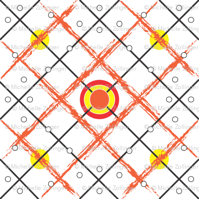 Orange_Diamond_Tribal_Pokadot